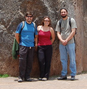 Adam, Meg and Aiman at Saqsaywaman