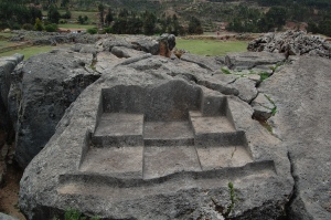 Three-tiered solstice altar at Saqsaywaman