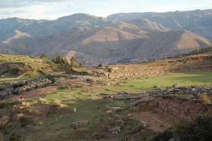 View of Saqsaywaman as sun was setting
