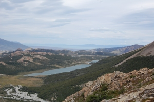 View from the top opposite the lake and Fitz Roy