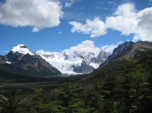 Glaciar Torre from a distance