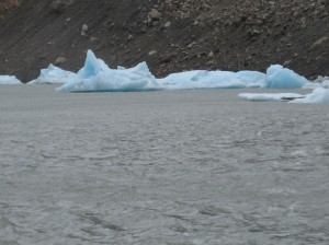 Close up of icebergs