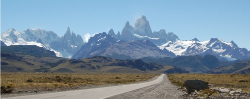 Our First Views of the Cerro and Fitzroy Mountain Ranges in El Chalten, Argentina