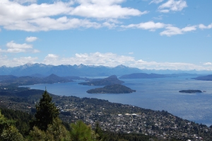 View from the hike to Cerro Otto near Bariloche
