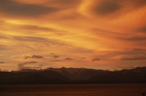 Sunset over Nahuel Huapi