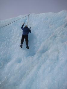 Adam's first climb