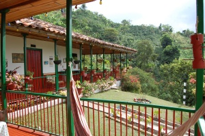 The deck at Finca Villa Maria