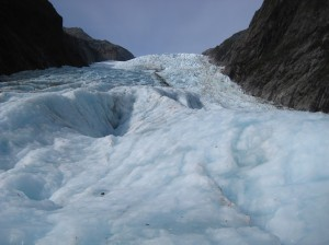 Looking up at Franz Josef