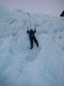 Megan's first climb