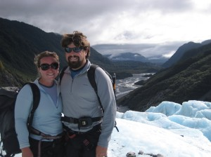 Us on Franz Josef looking back down into the valley