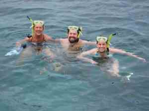 Adam Andrea Linda snorkeling