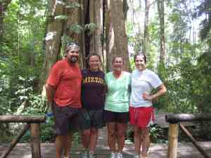 Four of us after Flight of the Gibbon