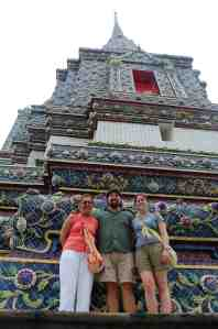Mom, Adam, and Andrea at Wat Pho in Bangkok
