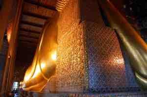 Reclining Buddha from the back