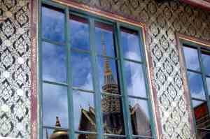 Reflection of the Grand Palace in adjacent building