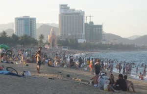 Nha Trang Beach in the evening