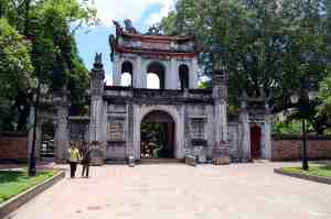 Entrance gate to the Temple of Literature