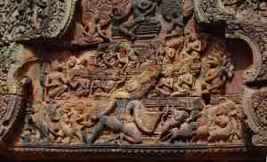 Lintel carving at Banteay Srei