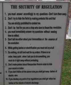 Rules for Prisoners at Tuol Sleng