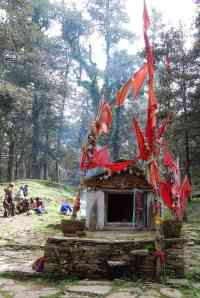 Small Hindu temple in the forest