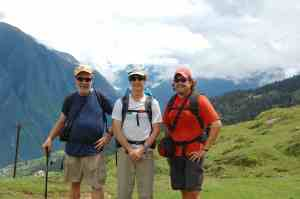 Mike, Vick, and me at the beginning of the trek